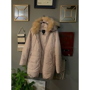 Soft pink winter coat